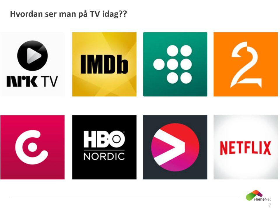 Hvordan ser man på TV idag 7