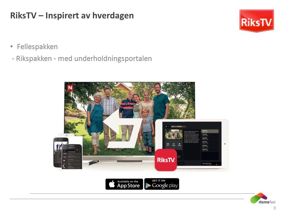 Fellespakken - Rikspakken - med underholdningsportalen 9 RiksTV – Inspirert av hverdagen