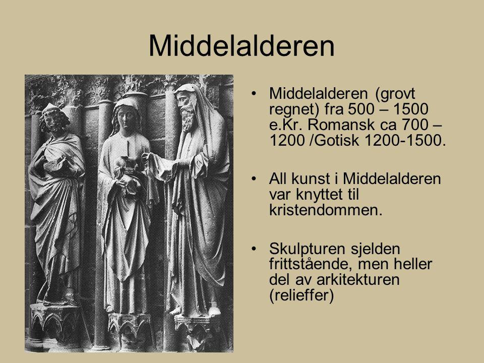 Middelalderen Middelalderen (grovt regnet) fra 500 – 1500 e.Kr.