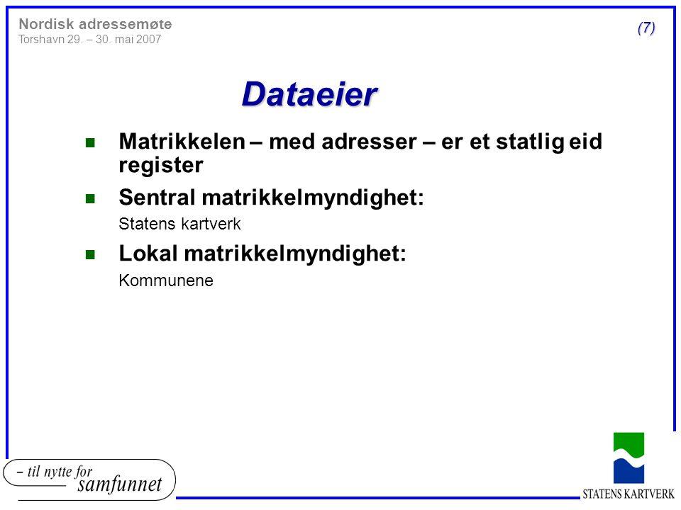 Distribusjon n Norsk Eiendomsinformasjon (www.eiendomsinfo.no)www.eiendomsinfo.no 4 Norsk Eiendomsinformasjon as er et heleid statlig aksjeseleskap som arbeider for å gjøre eiendomsinformasjon, kart- og plandata tilgjengelig for bruk og tilføring av verdi i samfunnet. 4 Distribuerer også informasjon fra Grunnboken n Norge digitalt (www.norgedigitalt.no)www.norgedigitalt.no 4 Norge digitalt er et bredt samarbeid mellom virksomheter som har ansvar for å fremskaffe stedfestet informasjon og/eller som er store brukere av slik informasjon. 4 Omfatter alle kommuner, fylkeskommuner og aktuelle statlige myndigheter.