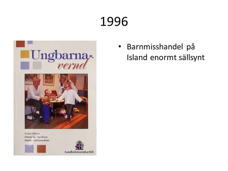 1996 Barnmisshandel på Island enormt sällsynt