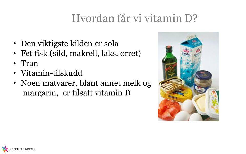 Hvordan får vi vitamin D.