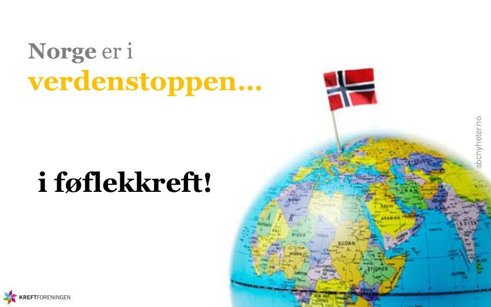 Norge er i verdenstoppen… abcnyheter.no i føflekkreft!