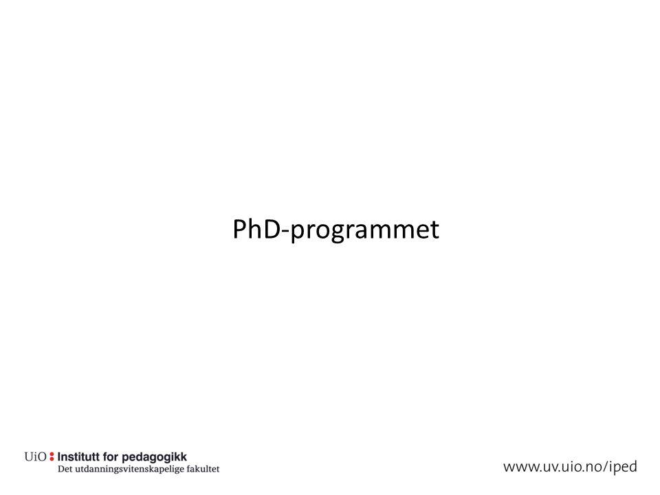 PhD-programmet