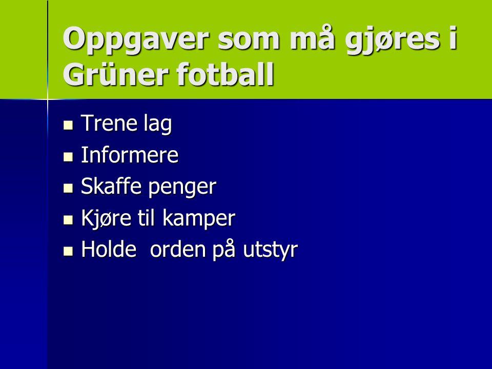 Når foreldrene er til stede – oppfører spillerne seg bra –Vi trenger deg i Grüner IL!