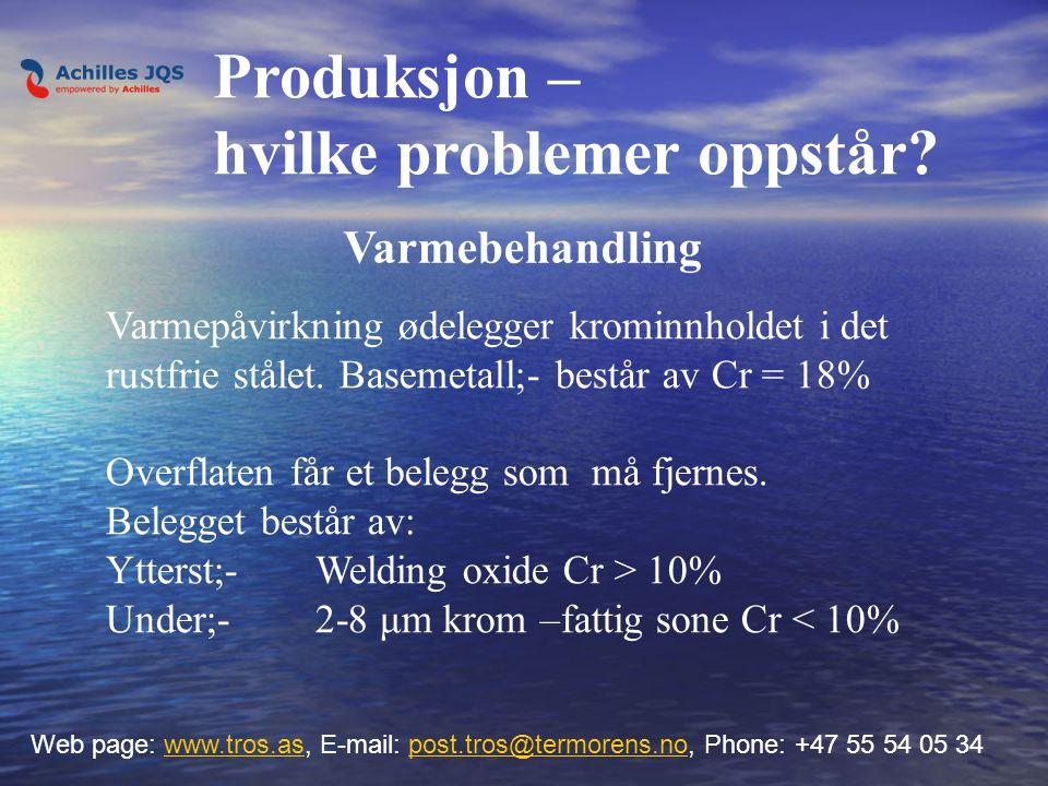 Varmebehandling Web page: www.tros.as, E-mail: post.tros@termorens.no, Phone: +47 55 54 05 34www.tros.aspost.tros@termorens.no Varmepåvirkning ødelegg