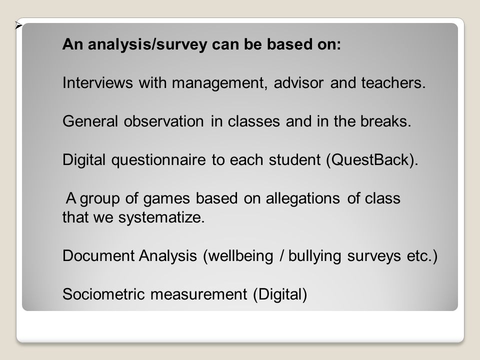 Overview and explanation of the factors (in the questionnaire to the students) 1.