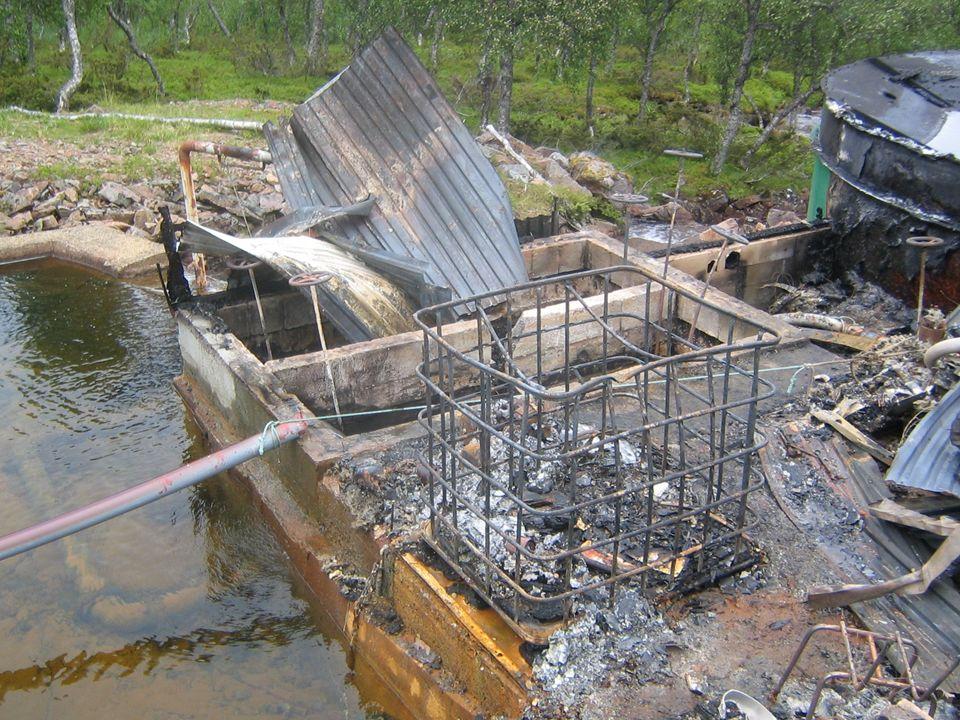 - Hele vannbehandlingsanlegg på Hennes & Kvitnes vannverk brant opp. I 2007.