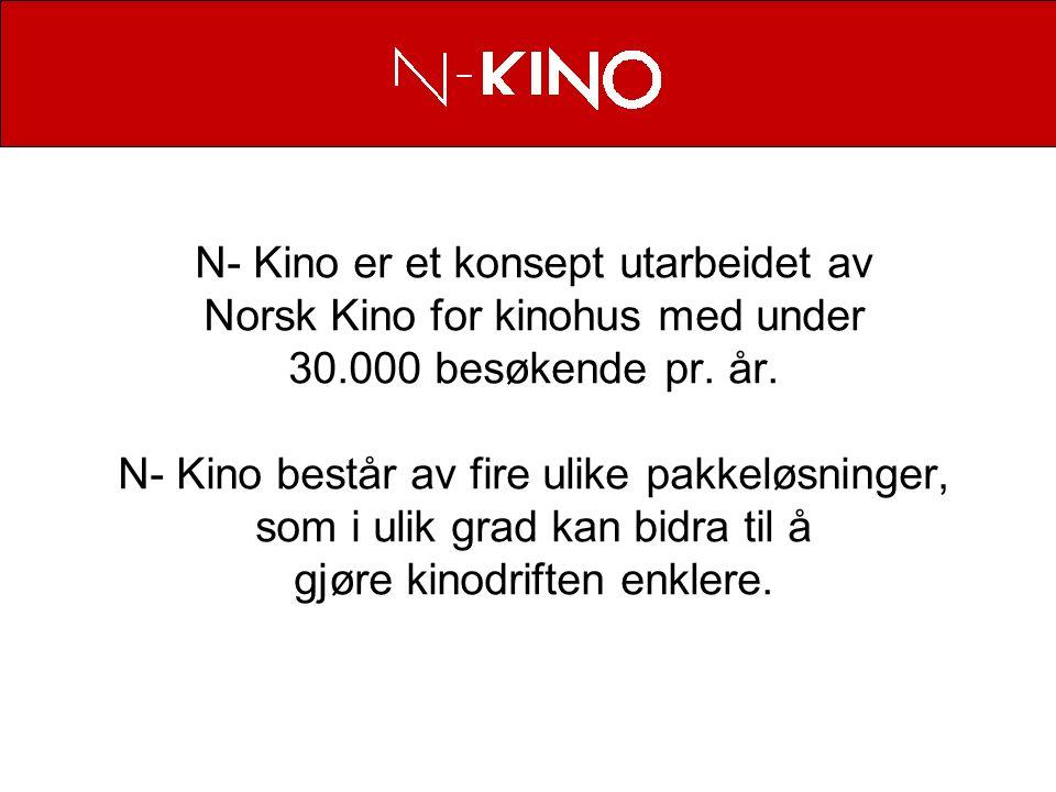 N- Kino er et konsept utarbeidet av Norsk Kino for kinohus med under 30.000 besøkende pr.