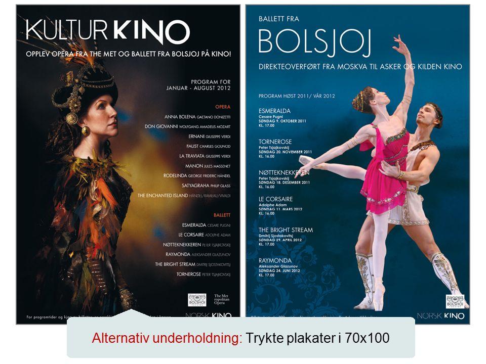 Alternativ underholdning: Trykte plakater i 70x100