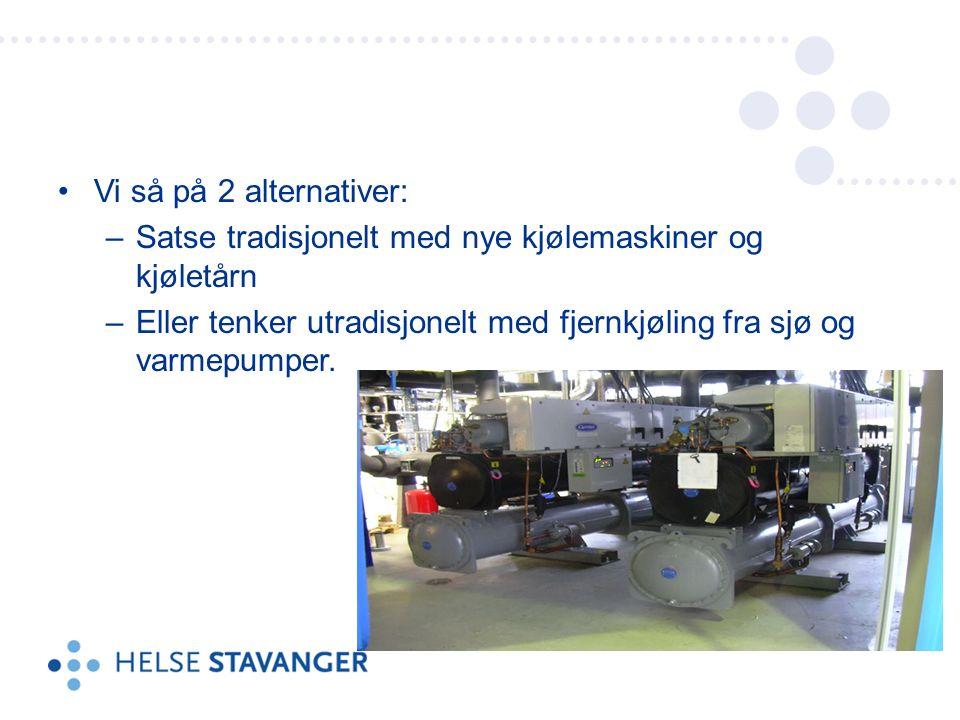 Det ble valgt en løsning med VP og fjernkjøling via sjøvann fra Gandsfjorden.