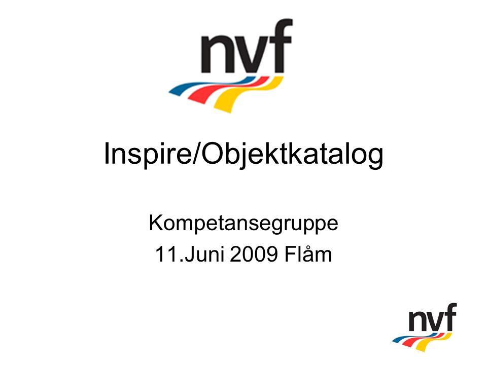Inspire/Objektkatalog Kompetansegruppe 11.Juni 2009 Flåm