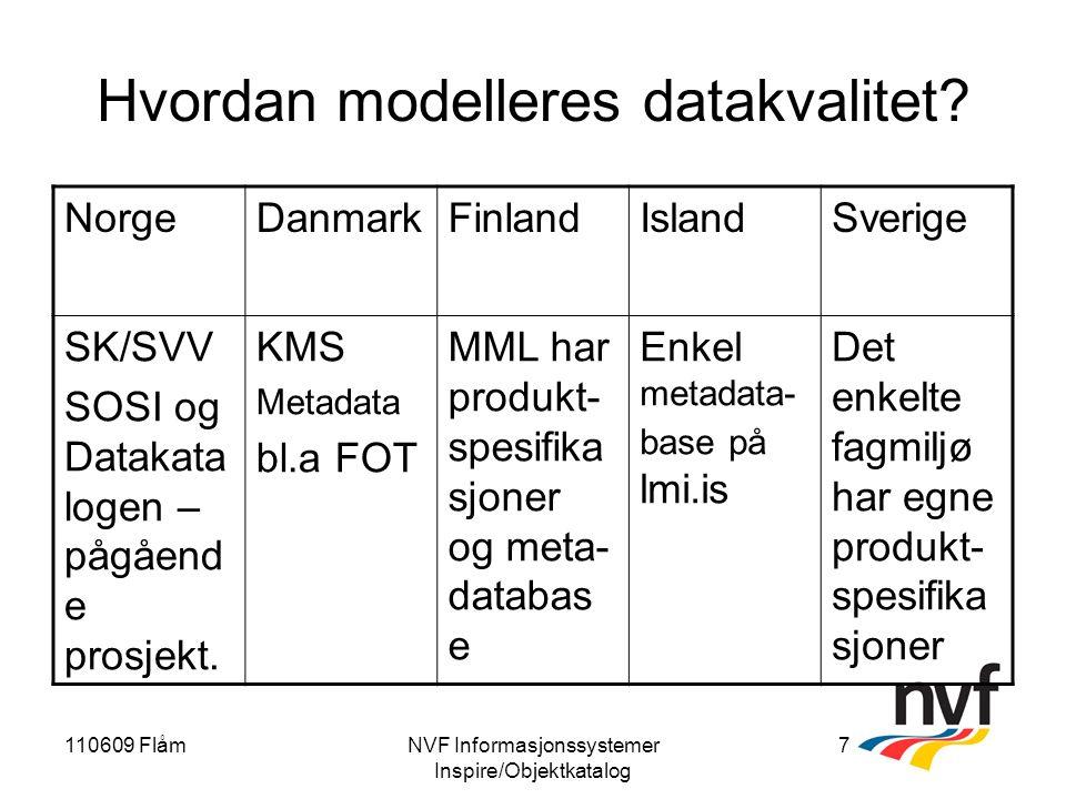 110609 FlåmNVF Informasjonssystemer Inspire/Objektkatalog 7 Hvordan modelleres datakvalitet.
