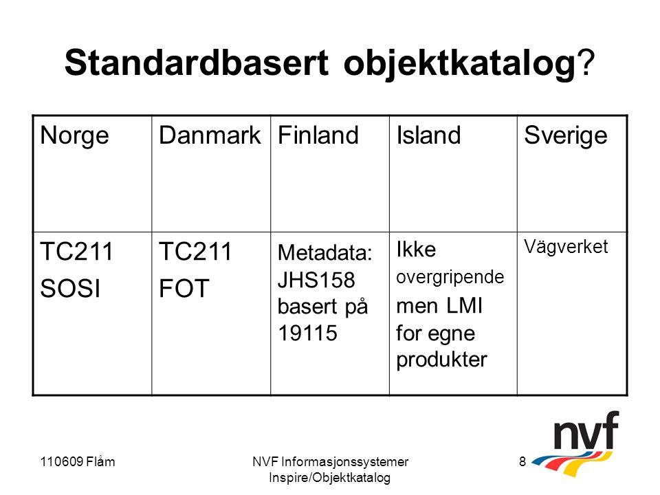 110609 FlåmNVF Informasjonssystemer Inspire/Objektkatalog 8 Standardbasert objektkatalog.
