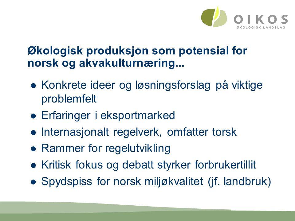 Økologisk produksjon som potensial for norsk og akvakulturnæring...