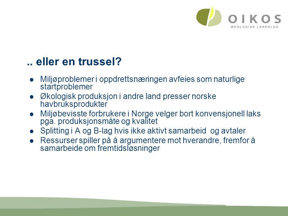 Scenario Norge lykkes med en bevisst satsing og er verdensledende på miljømerket akvakultur på sjø og svaberg, med god lønnsomhet, rekruttering og stabilitet i næringen.