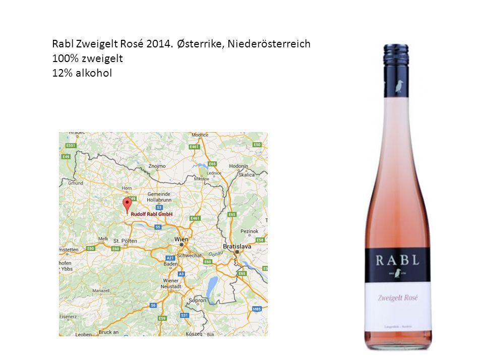 Rabl Zweigelt Rosé 2014. Østerrike, Niederösterreich 100% zweigelt 12% alkohol
