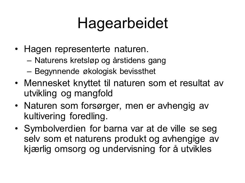 Hagearbeidet Hagen representerte naturen.