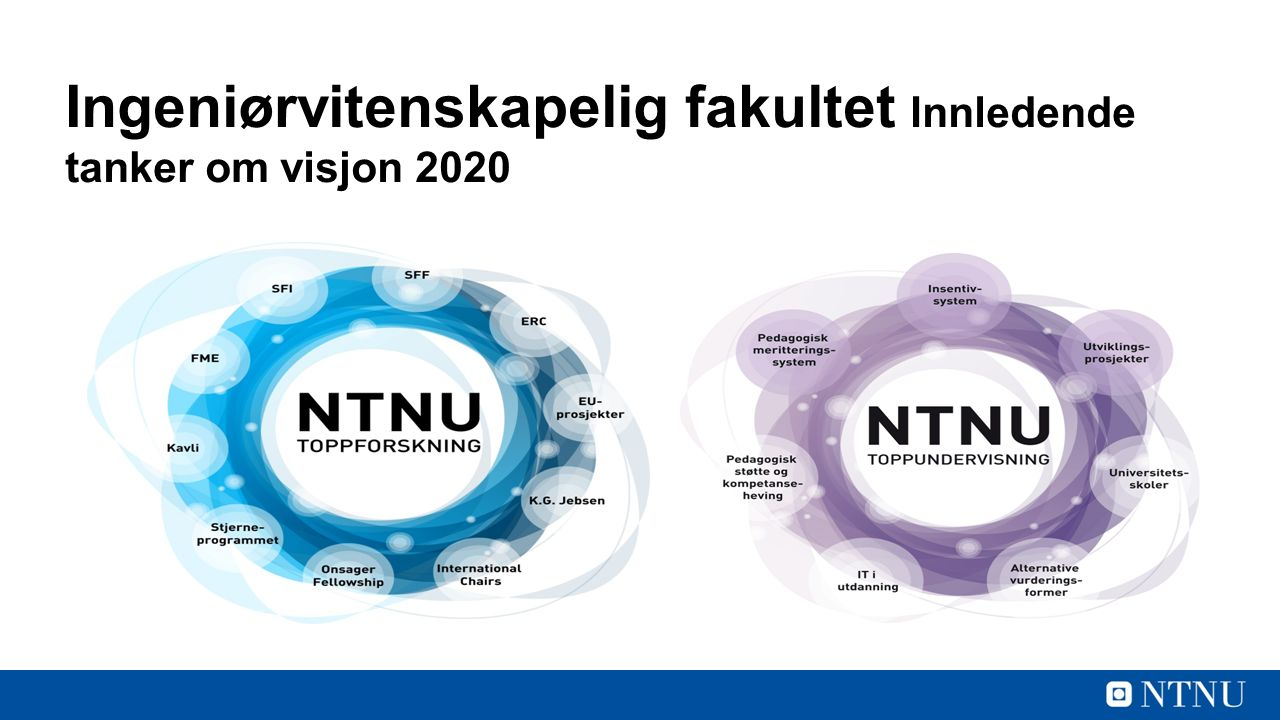 Ingeniørvitenskapelig fakultet Innledende tanker om visjon 2020