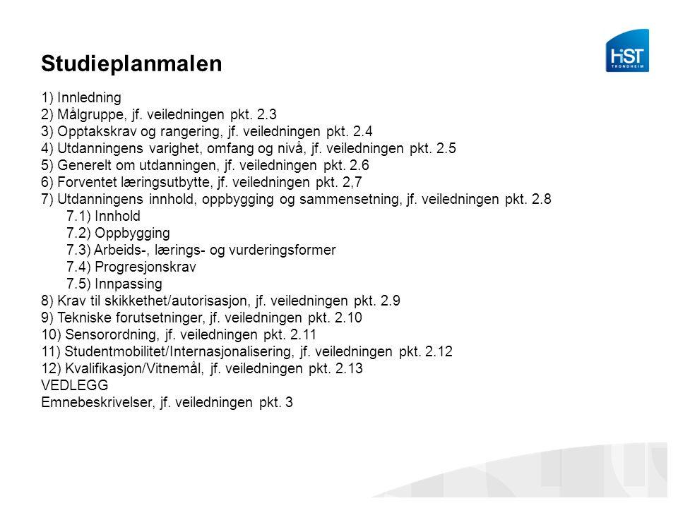 Emnebeskrivelser Mal for emnebeskrivelser Emnekode: Emnenavn: Faglig nivå: Studiepoeng og vektingsreduksjoner: Semester: Språk: Forkunnskaper, krav og anbefalinger Forventet læringsutbytte: Emnets temaer/innhold: Arbeidsformer og læringsaktiviteter: Vurderingsordning: Karakterskala: Sensorordning: Ny/utsatt eksamen og forbedring: Hjelpemidler: Obligatoriske arbeidskrav: Emneansvarlig: Læremidler: Erstatter: Supplerende opplysninger: