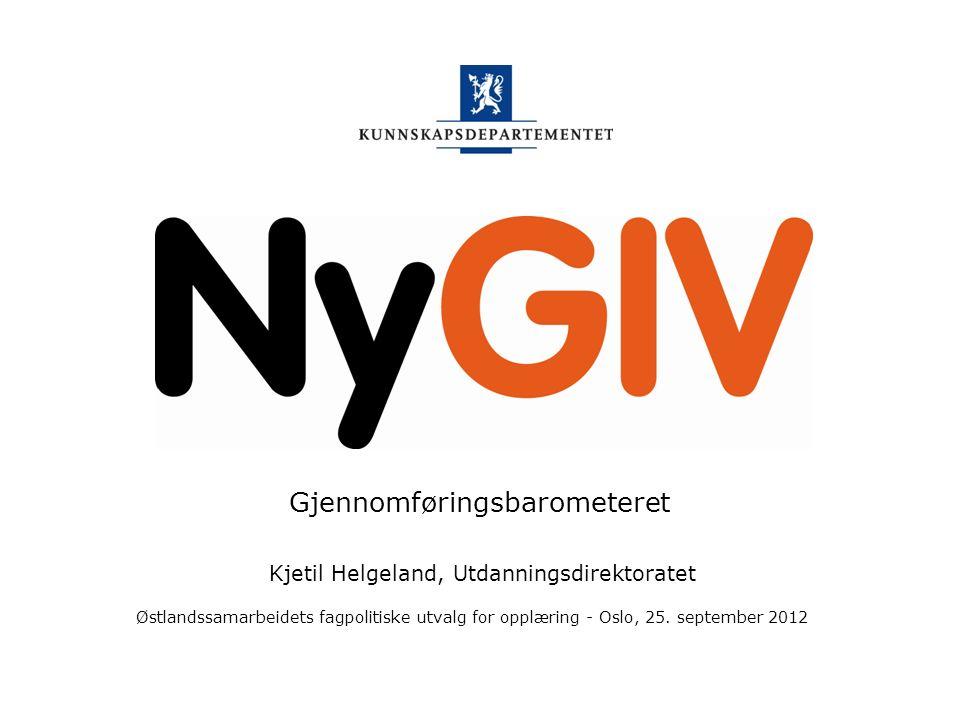 Kunnskapsdepartementet Fullført og bestått innen fem år Østlandssamarbeidets fagpolitiske utvalg for opplæring 25.