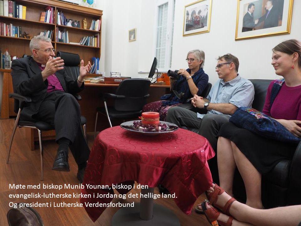 Møte med biskop Munib Younan, biskop i den evangelisk-lutherske kirken i Jordan og det hellige land.