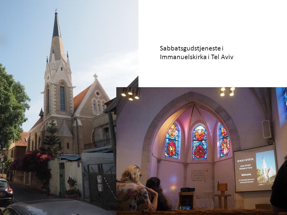 Sabbatsgudstjeneste i Immanuelskirka i Tel Aviv