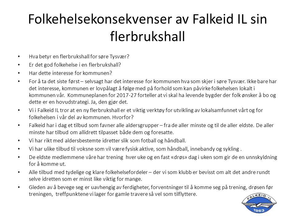 Regulering Falkeid idrettslag ble oppfordret til å legge inn fremtidige planer for idrettsanlegget.