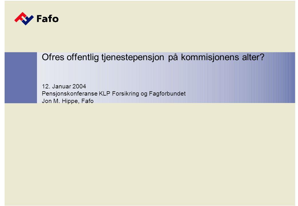 De problematiske tjenestepensjonene Lovfestet innskuddspensjon på 2% privat sektor.