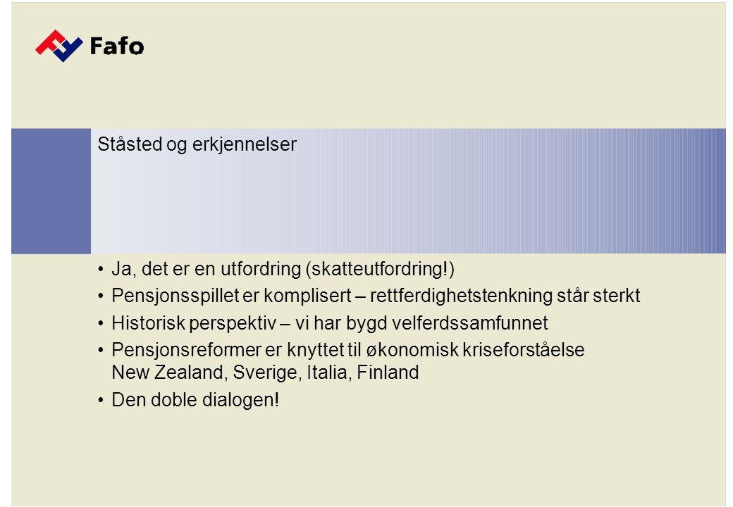 Ja, det er en utfordring (skatteutfordring !) Europas lave fødselshyppighet Ståsted og erkjennelser
