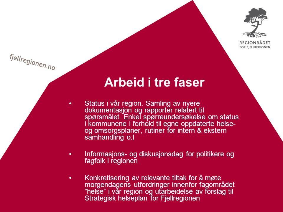 Arbeid i tre faser Status i vår region.