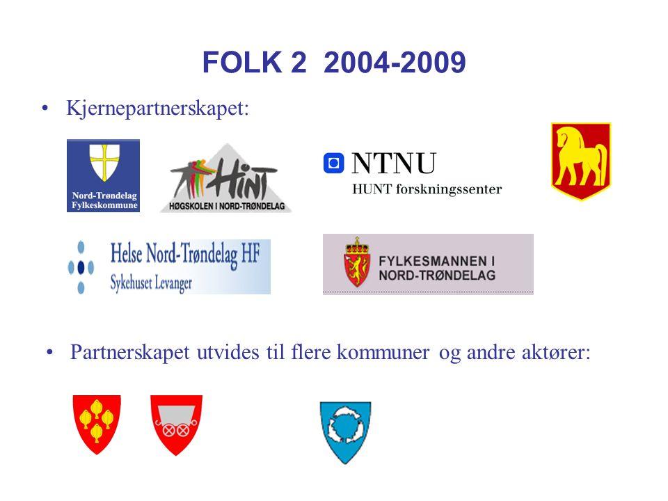 FOLK 2 2004-2009 Kjernepartnerskapet: Partnerskapet utvides til flere kommuner og andre aktører: