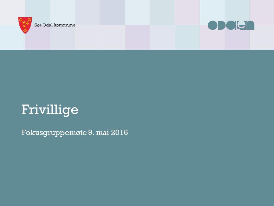 Frivillige Fokusgruppemøte 9. mai 2016