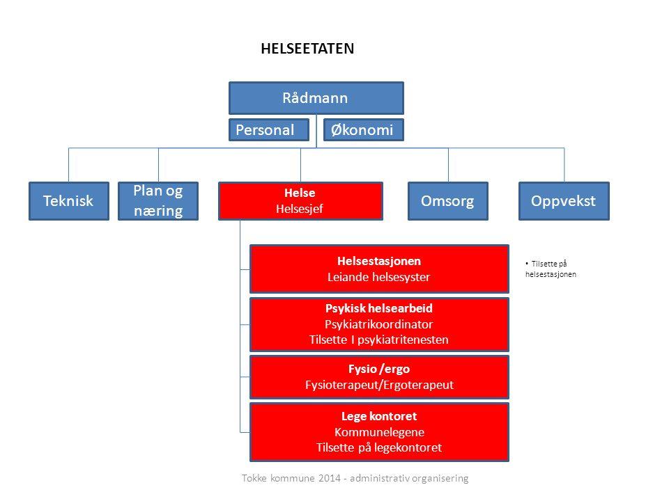 Rådmann Teknisk Helse Helsesjef Plan og næring OppvekstOmsorg Helsestasjonen Leiande helsesyster Psykisk helsearbeid Psykiatrikoordinator Tilsette I p