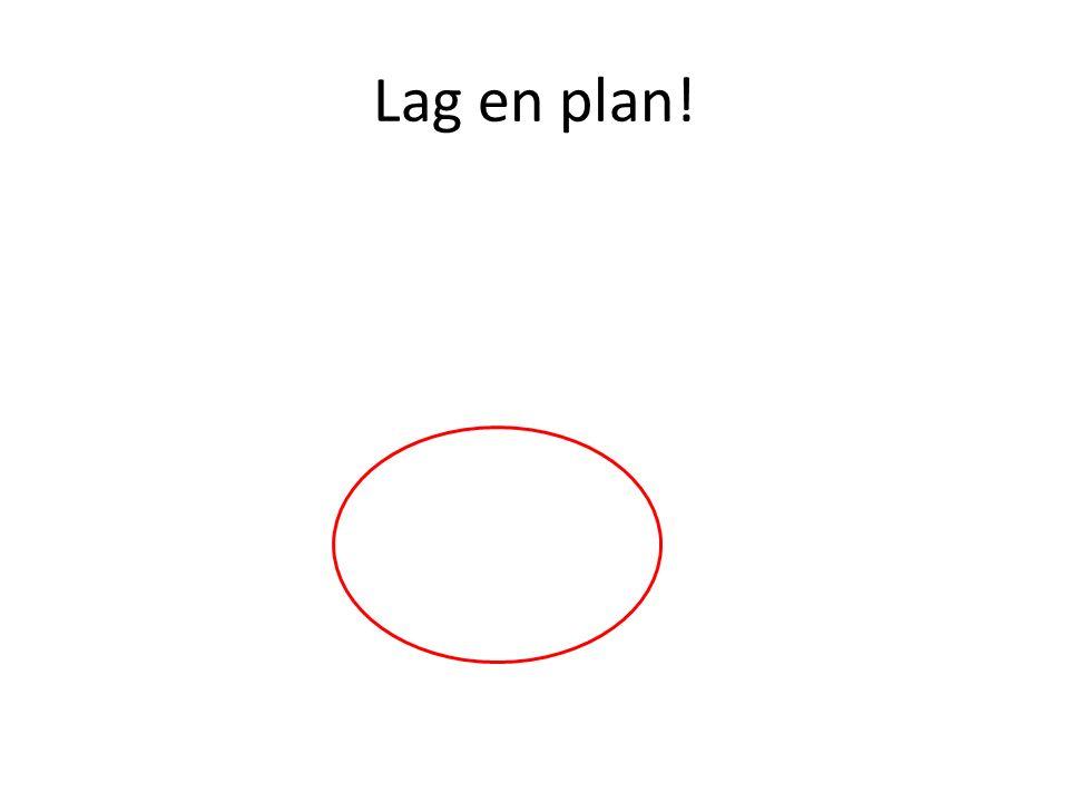 Lag en plan!