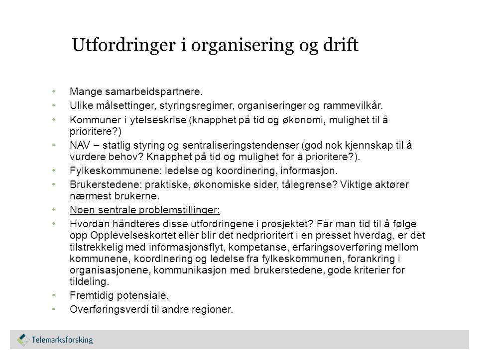 Betydningen av Opplevelseskortet PÅ INDIVIDNIVÅ OG PÅ SAMFUNNSNIVÅ.