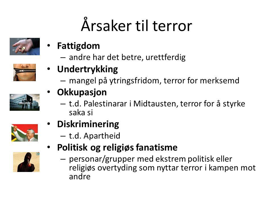 Korleis stoppe terror.Meir terror no enn før….