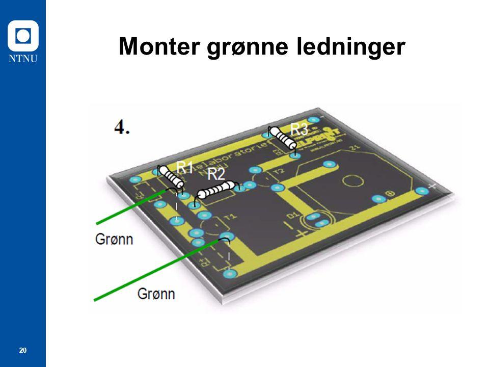 20 Monter grønne ledninger