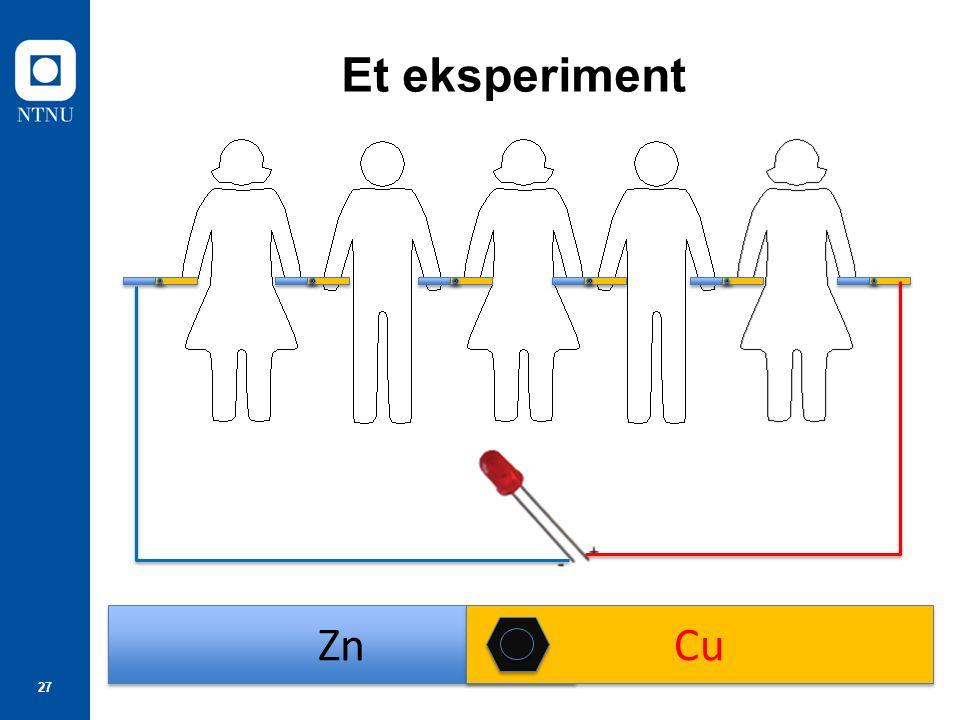 27 Et eksperiment Zn Cu