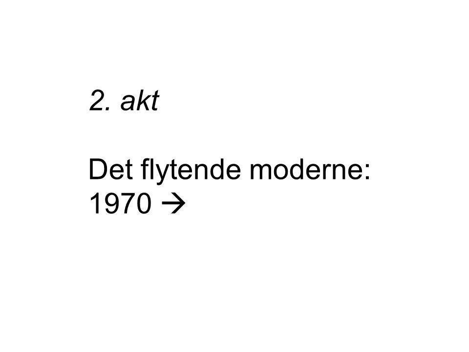 2. akt Det flytende moderne: 1970 