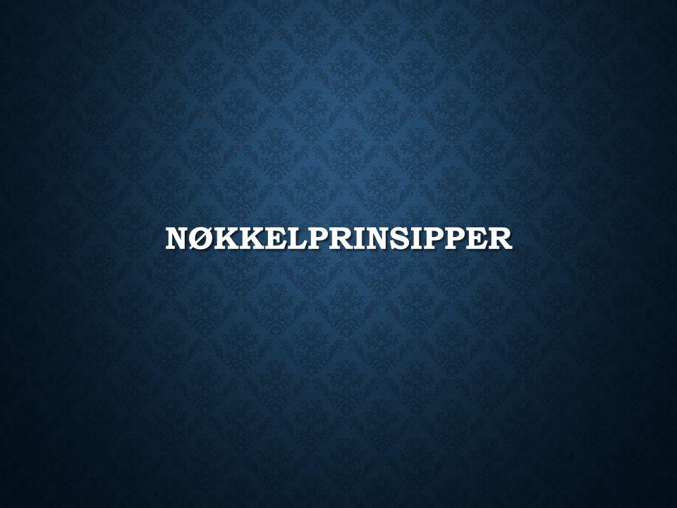 NØKKELPRINSIPPER