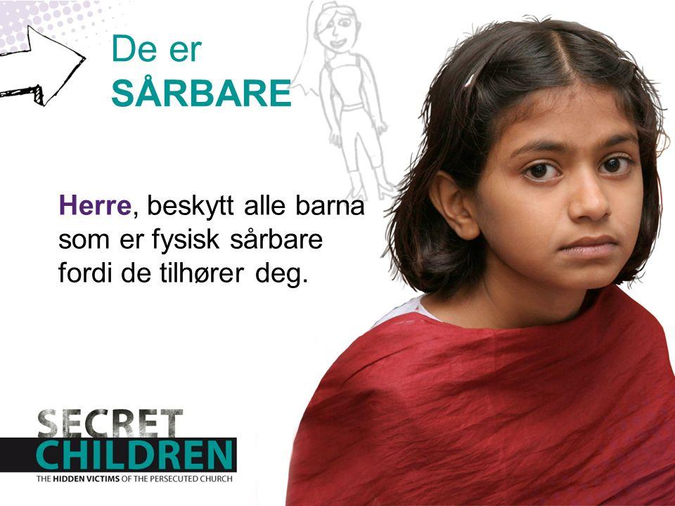 Herre, beskytt alle barna som er fysisk sårbare fordi de tilhører deg. De er SÅRBARE