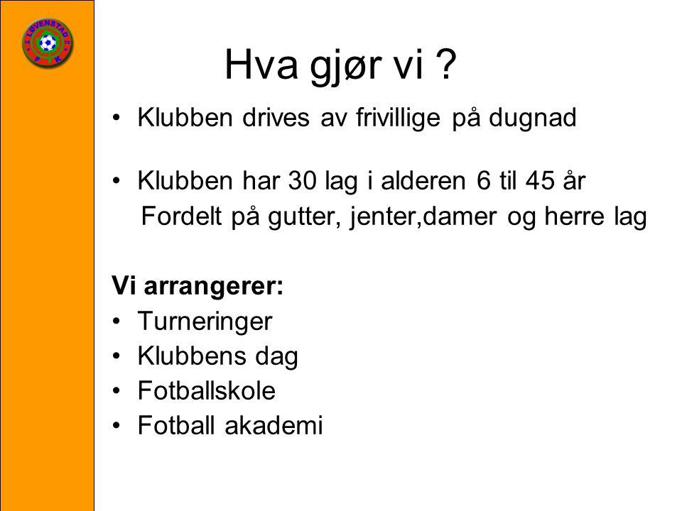 Hvorfor sponse Løvenstad fotballklubb.