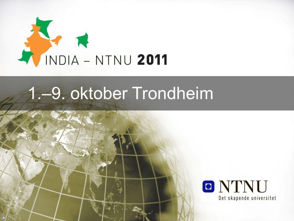 1.–9. oktober Trondheim