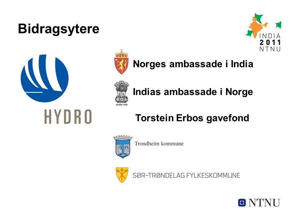 Bidragsytere Norges ambassade i India Torstein Erbos gavefond Indias ambassade i Norge