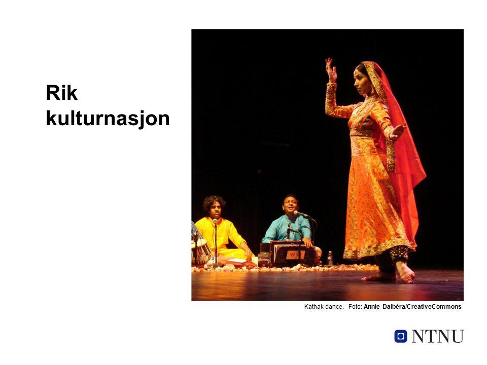 Rik kulturnasjon Kathak dance. Foto: Annie Dalbéra/CreativeCommons