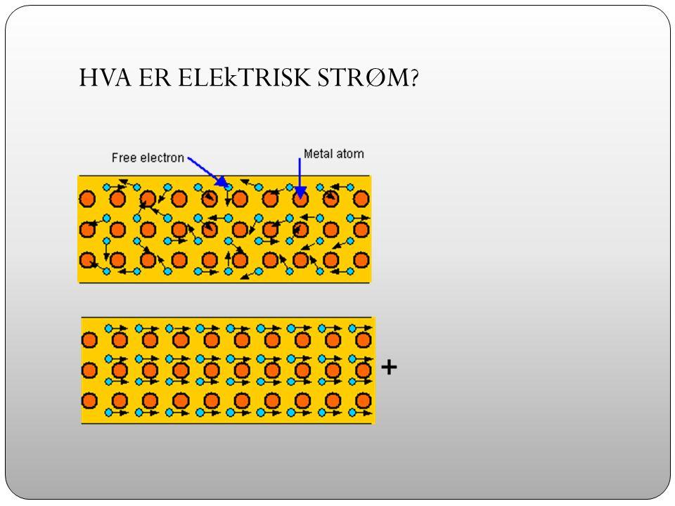 HVA ER ELEkTRISK STRØM