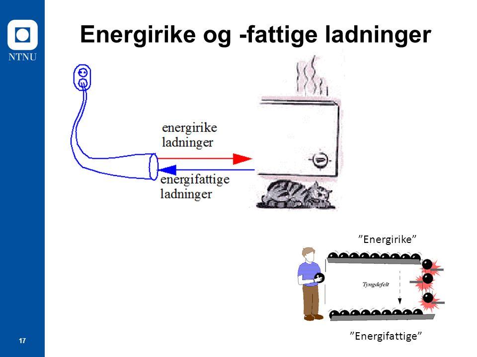 """17 Energirike og -fattige ladninger """"Energifattige"""" """"Energirike"""""""