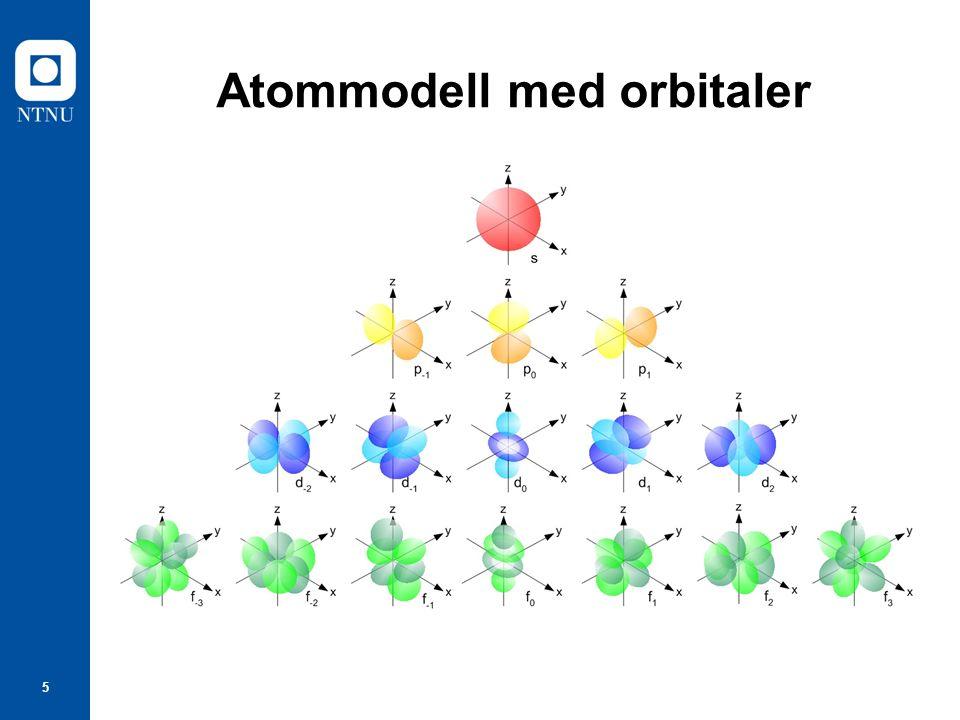 5 Atommodell med orbitaler