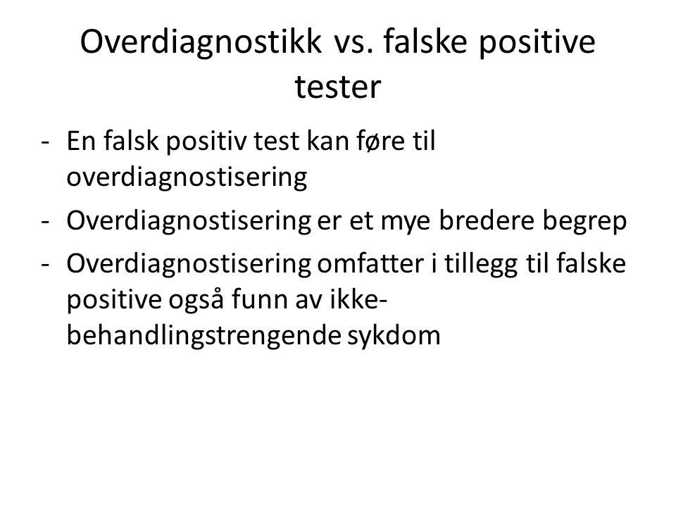 Overdiagnostikk vs.